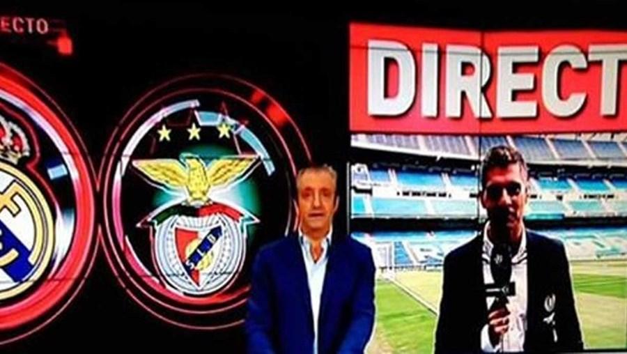 O canal associou o emblema do Benfica ao Sporting