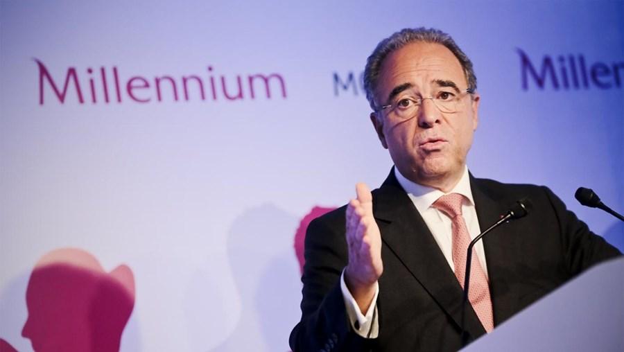 O presidente do BCP, Nuno Amado