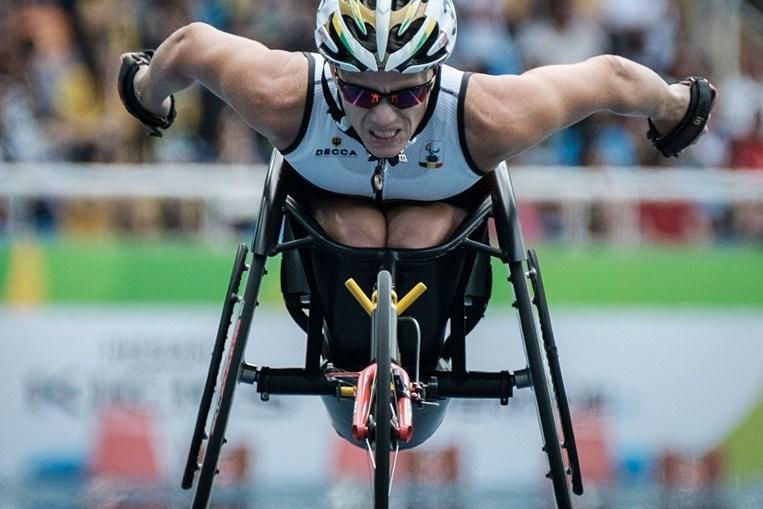 Prova de Marieke Vervoort nos Jogos Paralímpicos de 2016, no Rio de Janeiro, Brasil