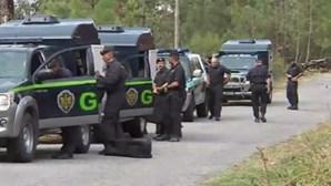Veja as imagens exclusivas das buscas por um dos suspeitos de tiroteio