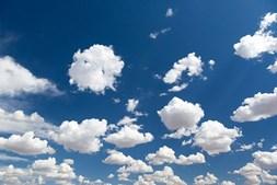 nuvens, céu limpo