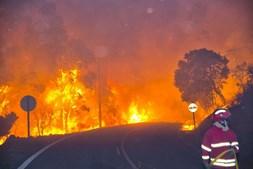Fogos florestais, como este de Monchique, foram os principais responsáveis pela má qualidade do ar