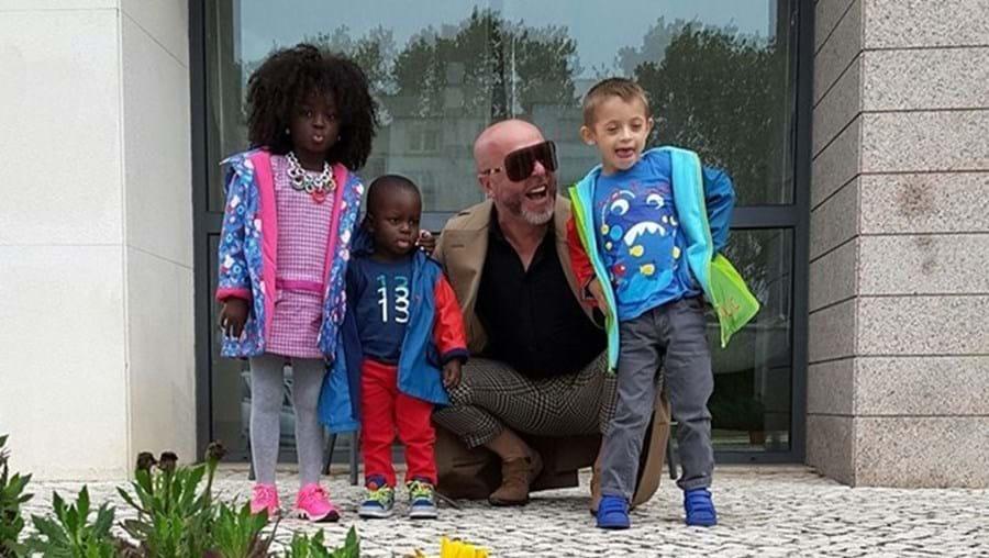 Eduardo Beauté com os filhos