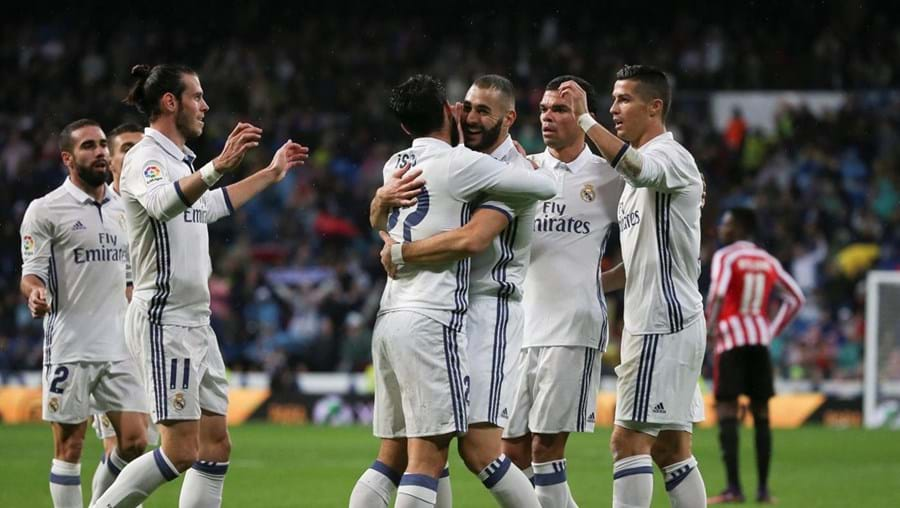 A festa dos jogadores do Real Madrid