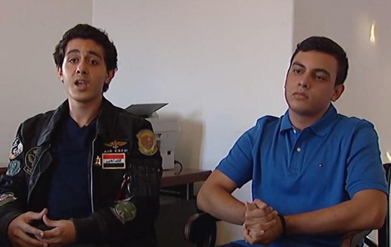 Haider e Ridha, 17 anos, são os filhos do embaixador do Iraque
