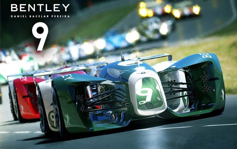 O Bentley desenhado por Daniel Bacelar, segundo classificado no concurso.