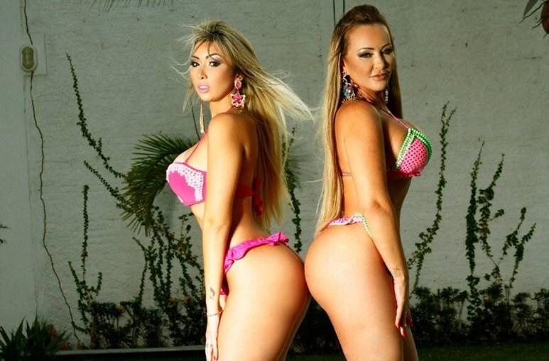 Eduarda Morais, de 19 anos, e Bruna Ferraz, de 35