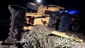 Acidente com camião e comboio em Santarém