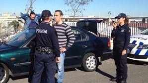 Polícias 'congelados' em Lisboa