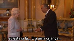 Marcelo Rebelo de Sousa divertiu rainha Isabel II