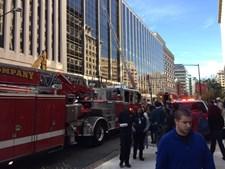 obras, incêndio, washington, chamas