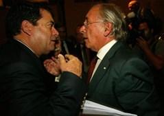 Com Marinho e Pinto no lançamento do livro 'O Meu Único Infinito é a Curiosidade'.