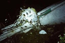 A primeira imagem do avião acidentado