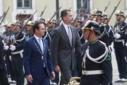 Felipe VI na sua recente visita a Lisboa