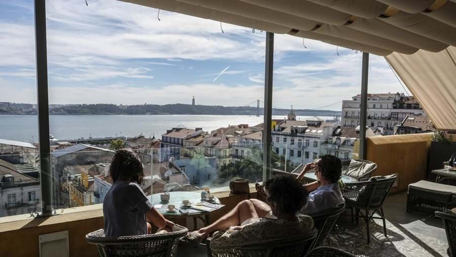 Atop the Bairro Alto Hotel, you can experience one of the best views of Lisbon