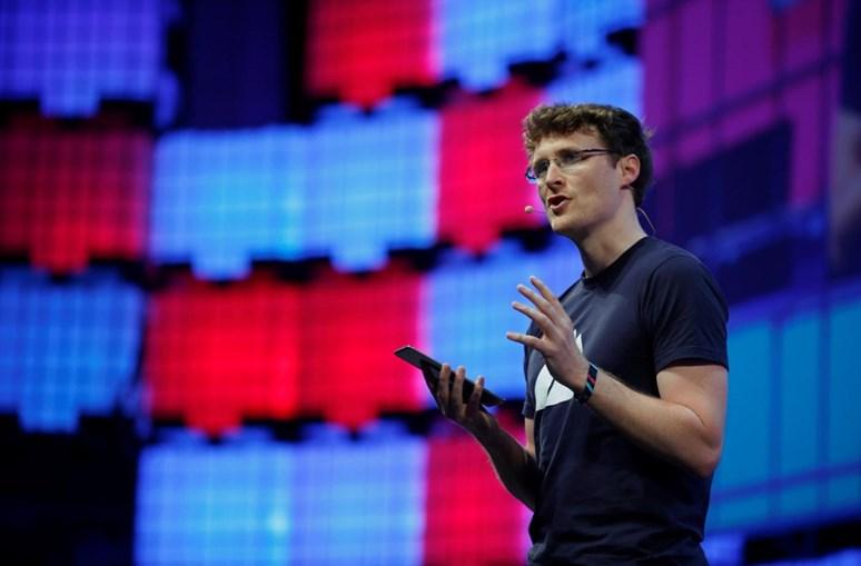 Paddy Cosgrave na inauguração da Web Summit