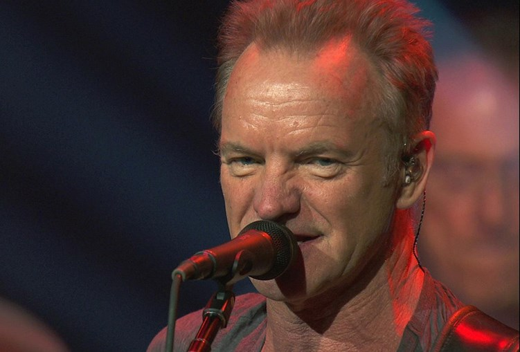 O cantor britânico Sting