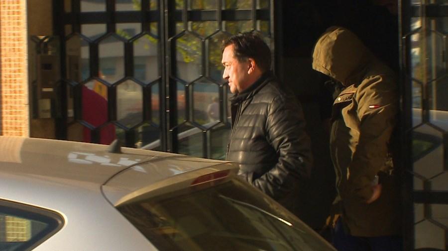 Joaquim Oliveira, um dos contabilistas, à saída da PJ