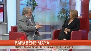 Amigos surpreendem Maya