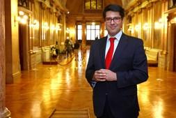 O Secretário de Estado Adjunto e das Finanças,  Ricardo Mourinho Félix