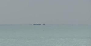 Imagem das operações de busca do avião