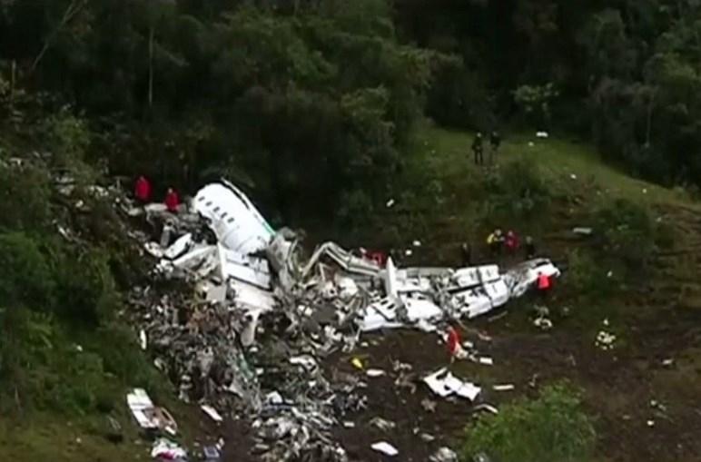 Avião da LaMia despenhou-se na Colômbia