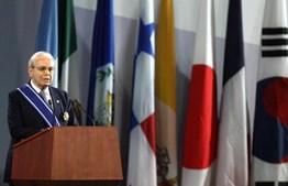 Javier Perez de Cuellar, ex-Secretário-Geral das Nações Unidas