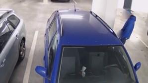 Polícia procura suspeito após ser divulgado vídeo que mostra o 'violador de carros' em ação
