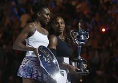 As irmãs Venus (à esquerda) e Serena disputaram a final de Melbourne