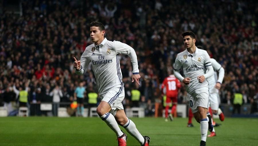 James Rodríguez marcou dois dos golos do Real Madrid