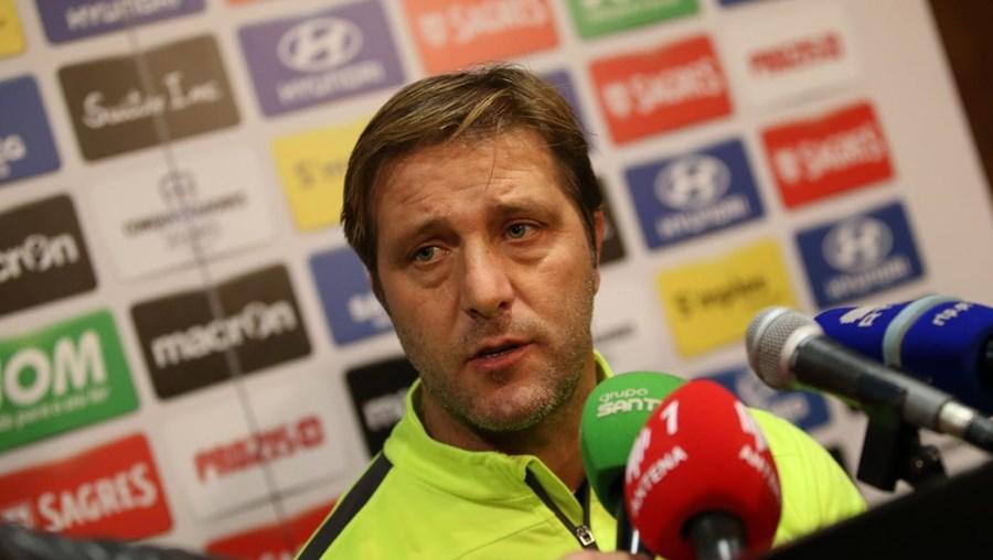O treinador do Vitória de Guimarães, Pedro Martins