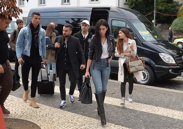 Georgina e Cristiano Ronaldo chegam à Madeira