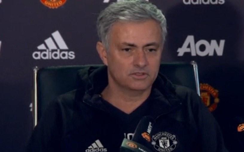 O treinador do Manchester United, José Mourinho