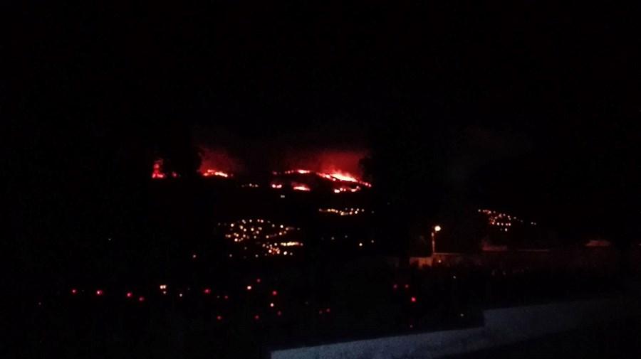 incêndio, mato, bombeiros. fogo, Vila Real, Serra do Alvão