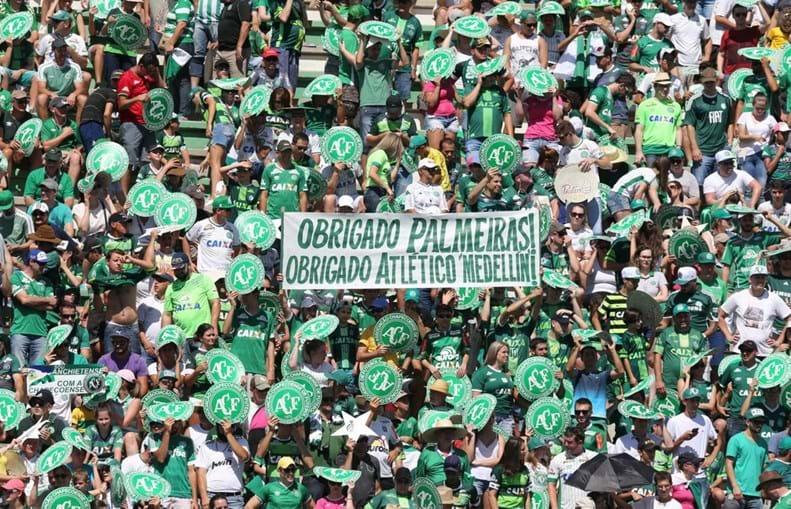 As imagens do regresso da Chapecoense aos relvados
