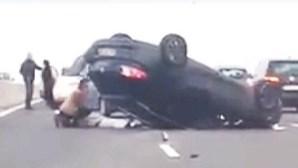 Trânsito normalizado na ponte Vasco da Gama após acidente