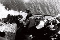O Tollan naufragou no Tejo em fevereiro de 1980. Só foi removido quase quatro anos depois