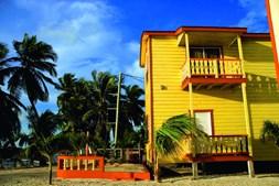A ilha de Caulker atrai viajantes  independentes