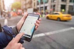 Aplicação da Uber no Iphone