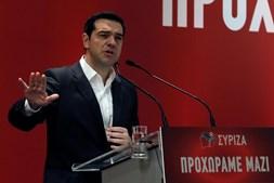 O primeiro-ministro grego, Alexis Tsipras