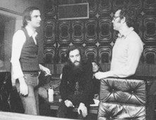 Uma sessão de gravação com Fausto, em 1974