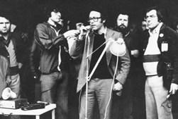 Numa ação do Comité para a Libertação dos Antifascistas e Revolucionários Presos, em 1976