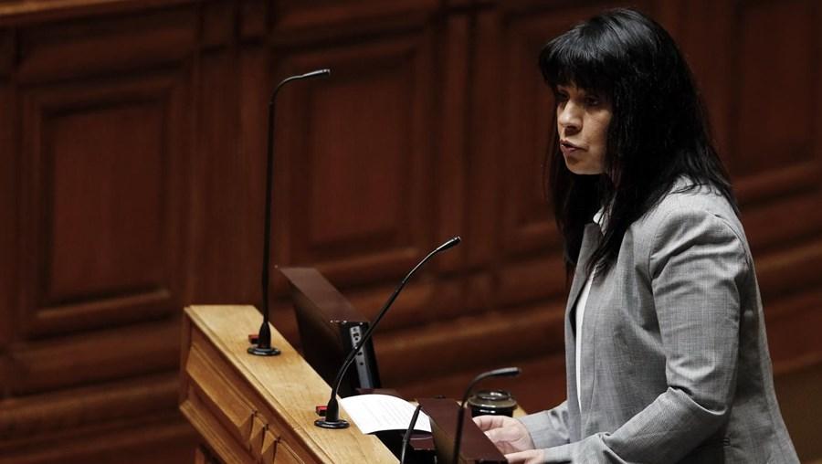 A deputada do Bloco de Esquerda, Sandra Cunha