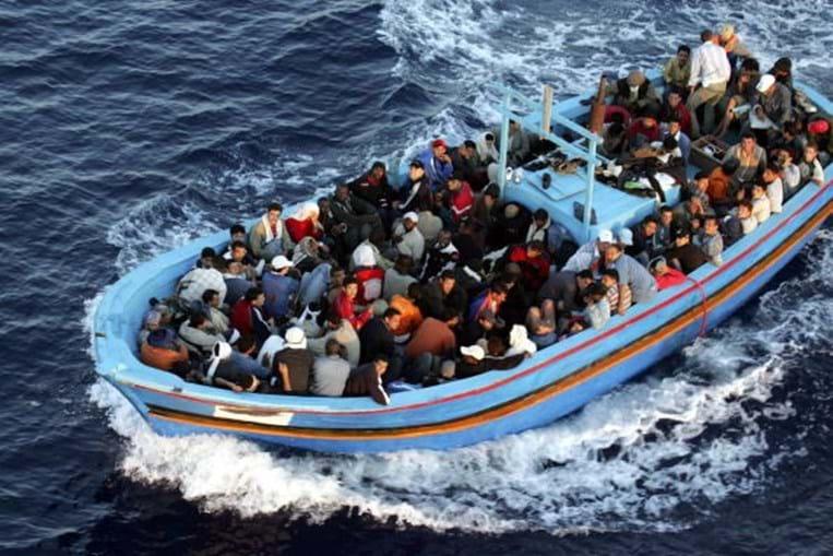 Migrantes no Mediterrâneo