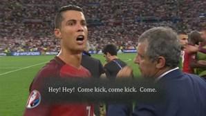 Momento entre Ronaldo e Moutinho no Euro ganha nova versão