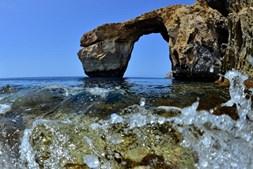 'Janela Azul' antes de ter colapsado em Malta