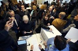 Urna de voto no referendo de 9 de novembro de 2014, na Catalunha