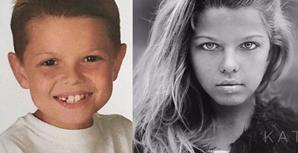 Corey em criança e agora