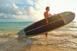 Aproveite para praticar surf