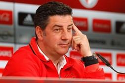 O treinador do Benfica, Rui Vitória